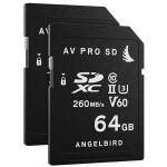 Angelbird 64GB AV Pro UHS-II SDXC Memory Card (2-Pack) V60