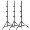 Manfrotto 1051 BAC-3 Black Alu Mini Compact Stand 3 Pack