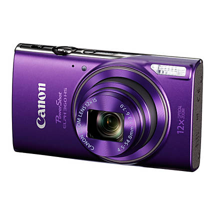 Canon PowerShot ELPH 360 HS Digital Camera - Purple