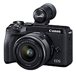 Canon EOS M6 Mark II Mirrorless Camera with 15-45mm Lens  and  Viewfinder Kit (B