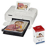 Canon SELPHY CP1300 Compact Photo Printer (White) with KP-108 Ink/Paper Set