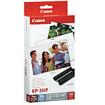 Canon KP-36IP Color Ink  and  Paper Set  4X6 PAPER, 36 SHEETS, POSTCARD SIZE