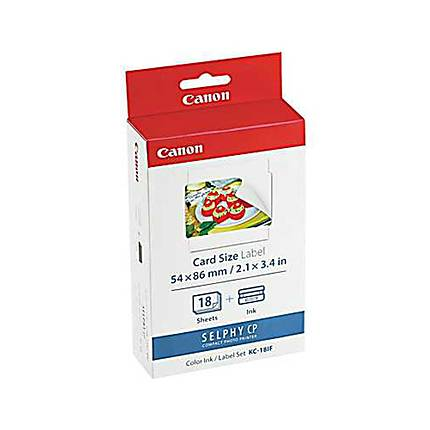 Canon KC-18IF Color Ink/Card Size Label Set