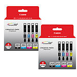 Canon CLI-251 BK/CMY 4 PK Value Pack Ink for Canon InkJet Printers-2 PK