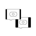 Canon EC-1D Black Mask Focusing Screen Set for Canon EOS 1D Digital Cameras
