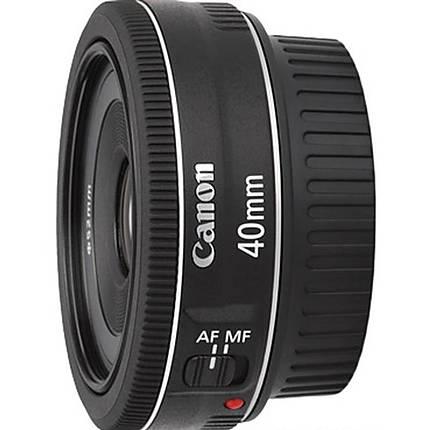Canon EF 40mm f/2.8 STM Medium Telephoto Lens - Black