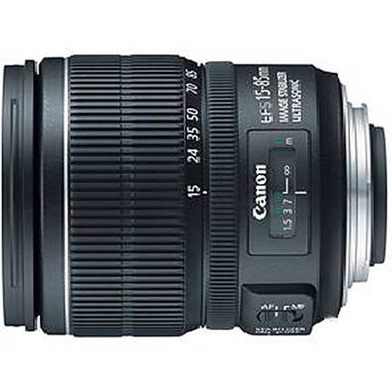 Canon EF-S 15-85mm f/3.5-5.6 IS USM Standard Zoom Lens - Black