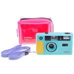 dubblefilm SHOW Camera Turquoise w/ Flash Case Strap