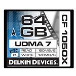 Delkin Devices 64GB 1050X Compact Flash UDMA 7 Cinema Memory Card
