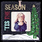 Slate Square Ornament Tis The Season