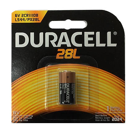 Duracell PX28L Lithium Photo Battery (replaces Kodak KS-28)