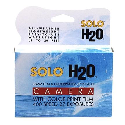 Solo H2O 35mm Single Use Underwater Camera w/ Kodak 400asa 27 exposure film