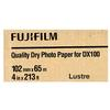 Fujifilm 4x213 DX100 Inkjet Paper Lustre for Frontier-S DX100 Printer