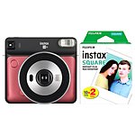 Fujifilm SQUARE SQ6 Instant Film Camera (Ruby Red) with Twin Pack Film