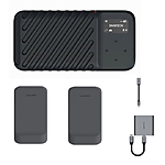 GNARBOX 2.0 SSD (512GB) Rugged Backup Device w/2x Batteries, CF Reader,  and  Do