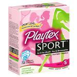 Playtex Sport Tampons 18ct Super Unscented Unique Contour Applicator