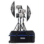 Hensel Integra 500 Super Size Kit with Stands (1500 Total W/s)