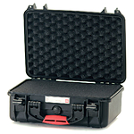 HPRC 2400F Hard Case with Foam (Black with Red Handle)