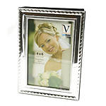 Innovision 4X6 Frame Front Album Silver w Rope Design