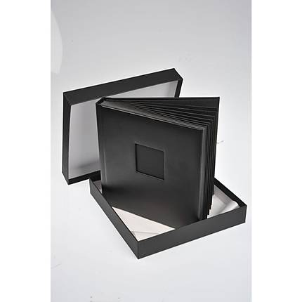 Unique Bound Album with 30 Peel  and  Mount 10 x 10 Pages (Black Leather)
