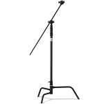 Kupo 40 in Turtle Base C-Stand Kit Black w/Grip Head  and  40in Hex Stud Arm
