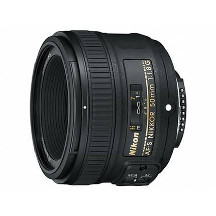 Nikon AF-S Nikkor 50mm f/1.8G Prime Lens - Black