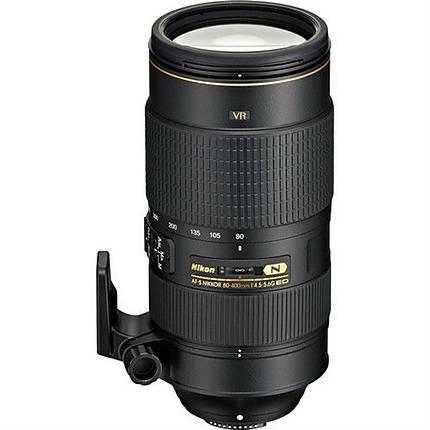 Nikon AF-S Nikkor 80-400mm f/4.5-5.6G ED VR Telephoto Zoom Lens - Black