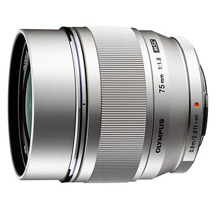 Olympus M.Zuiko 75mm f/1.8 Portrait Lens for Micro 4/3 Systems - Silver