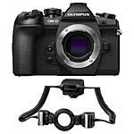 Olympus OM-D E-M1 Mark II Mirrorless 4/3 Camera with STF-8 Twin Flash