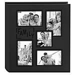 Pioneer 5-up Collage Embossed Family Photo Album - Black (240 4x6 photos)