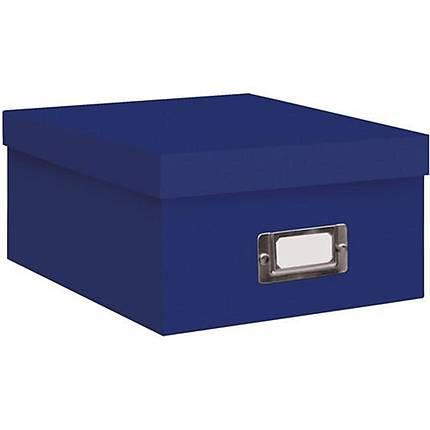 Pioneer Photo Albums 4x7 Photo Storage Box - Royal Blue