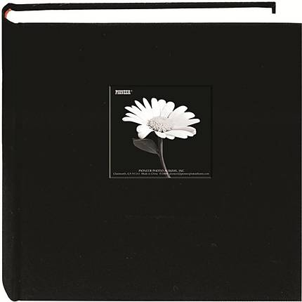 Pioneer 5x7 Cloth Frame Photo Album (200 Photos) - Black