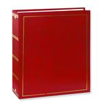 Pioneer Solid Cover Magnetic 3 Ring Photo Album (100 Photos) - Red