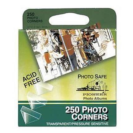 Pioneer Self Adhesive Clear Photo Corners (250 Tabs) Self Adhesive and Acid Free