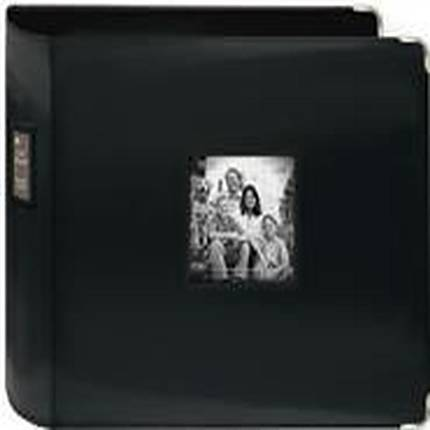 Pioneer 12 x 12 In. Sewn Leatherette 3-Ring Binder Frame Scrapbook - Black