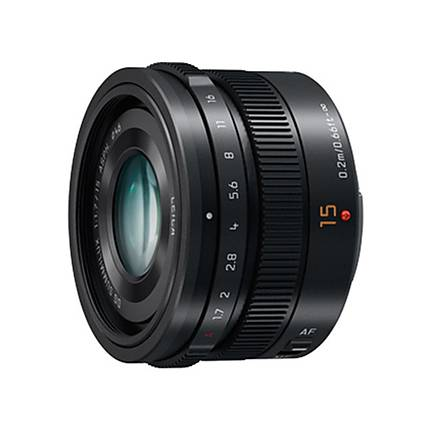 Panasonic Lumix G Leica DG Summilux 15mm f/1.7 for Wide Angle Lens - Black
