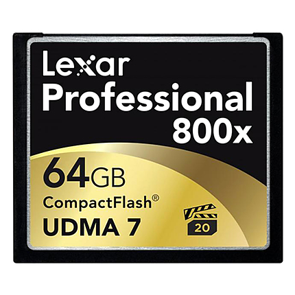 RENTAL ONLY Lexar 64GB Professional 800x Compact Flash Card