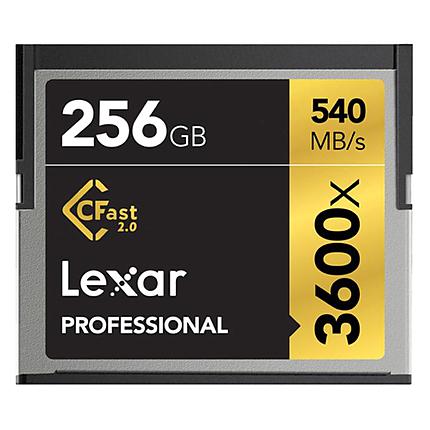Lexar 256GB Professional 3600x CFast 2.0 Memory Card