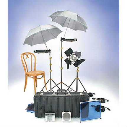 Rental Lowel Lighting Kit with 3 Tota Lights 1 Omni Light and 4 Stands