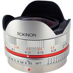 Rokinon 7.5mm f/3.5 Ultra Wide-Angle Fisheye Lens for Micro 4/3 (Silver)