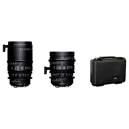 Sigma 18-35mm T2  and  50-100mm T2 Lenses with Case (Sony E)