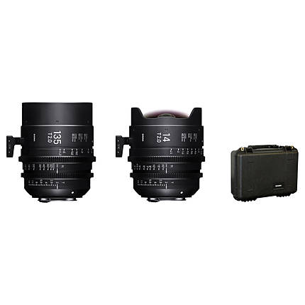 Sigma 14mm T2  and  135mm T2 FF High-Speed Prime Lens Kit with Case (Sony E)