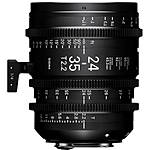 Sigma 24-35mm T2.2 FF Zoom Lens (Canon EF, Metric)
