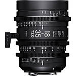 Sigma 18-35mm T2 Fully Luminous High-Speed Zoom Lens (Canon EF, Metric)