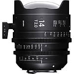 Sigma 14mm T2 Fully Luminous FF High-Speed Prime Lens (Canon EF, Metric)