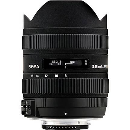 Sigma DC HSM 8-16mm f/4.5-5.6 Wide Zoom Lens for Nikon Mount - Black