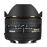 Sigma EX DG Diagonal 15mm f/2.8 Fisheye Lens for Canon Mount - Black