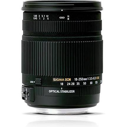 Sigma DC (OS) Macro HSM 18-250mm f/3.5-6.3 Telephoto Lens for Pentax - Black