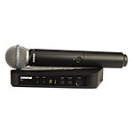 Shure BLX24 Handheld Wireless System With Beta 58A Mic (H10: 542 - 572 MHz)