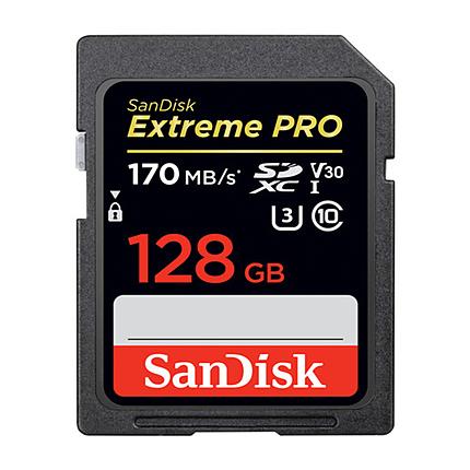 SanDisk 128GB Extreme PRO UHS-I SDXC Memory Card